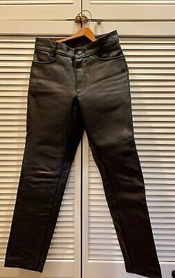 vanson leather motorcycle jeans touring pants size 33