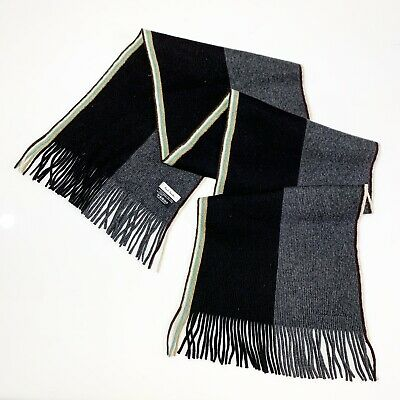 Paul Smith Plaid Unisex 75% Wool 25% Angora Long Scarf 60x16 In Made In Germany