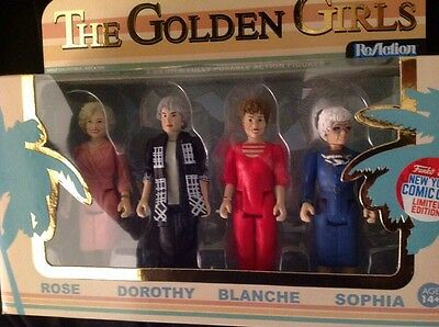 The Golden Girls Funko 4 Pack Reaction Poseable Action Figures 2016 Comic Con
