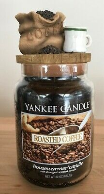 Yankee Candle Extremely Rare Roasted Coffee With Coffee Topper!