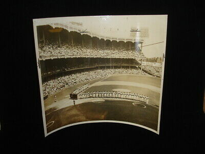 1955 World Series Game #1 Yankee Stadium Original 10x12 B&w Photo - Eisenhower