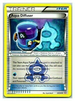 Aqua Diffuser 23/34 Double Crisis Promo Pokemon Card LP Cond