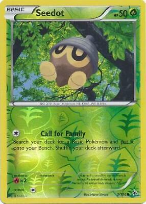 Seedot - 5/106 - Common Reverse Foil new Pokemon XY Flashfire Reverse Foil 2B3