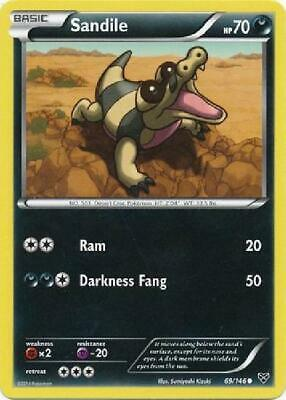 Sandile - 69/146 - Common NM XY (Base Set) Pokemon 2B3