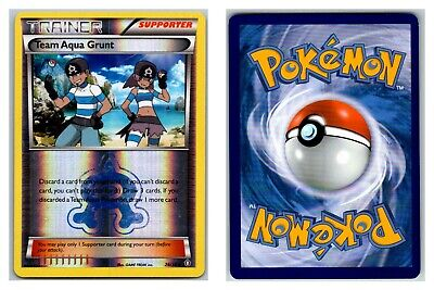 Team Aqua Grunt 26/34 REVERSE HOLO Double Crisis Pokemon Card Exc-LP Cond