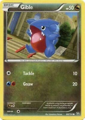 Gible - 86/124 - Common PL Dragons Exalted Pokemon 2B3