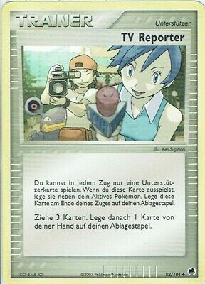 Pokemon Karte EX Dragon Frontiers Nr. 82/101 TV Reporter deutsch