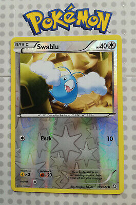 Pokemon card Swablu 105/124 HOLO Colourless Dragons Exalted Mint