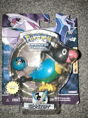 Pokemon Diamond And Pearl Series 1 Chatot Figure With Marble!