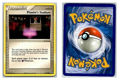 Phoebe's Stadium 79/108 Power Keepers Pokemon Card HP Condition