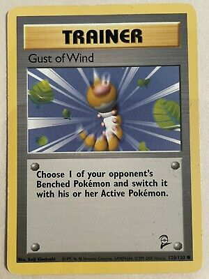 Trainer Gust of Wind 120/130 Base Set 2 Pokemon Card