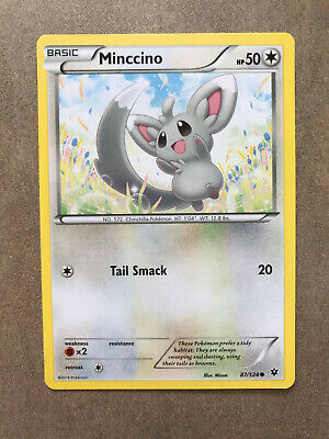 87/124 - Minccino - common - X&Y Fates Collide Card 2016 Pokemon TCG