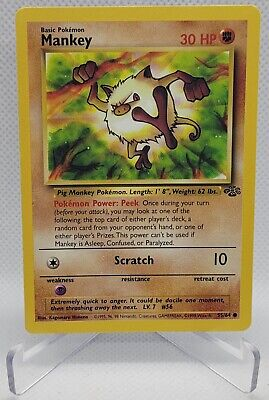 55/64 Mankey - Jungle - Common Pokemon TCG Card