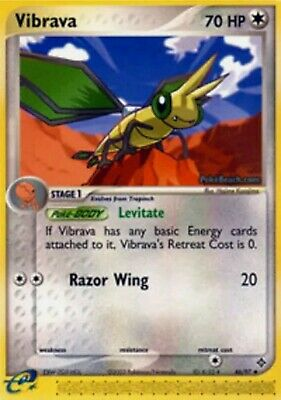 Pokemon Trading Card VIBRAVA 46/97 Dragon - LIGHT PLAY