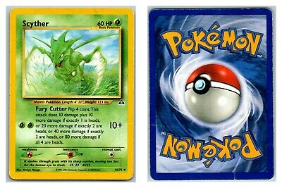 Scyther 46/75 Neo Discovery Pokemon Card HP Condition *