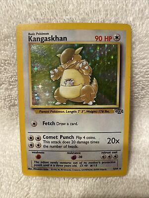 KANGASKHAN 5/64 Holo Foil Rare Base Set JUNGLE Pokemon Card 1999