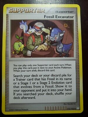 Fossil Excavator Pokemon Supporter D&P Mysterious Treasures Card 111/123 NM