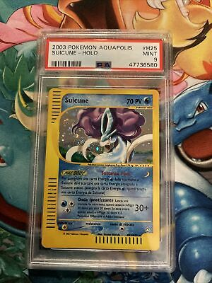 pokemon Aquapolis psa 9 mint Suicune Holo Italian