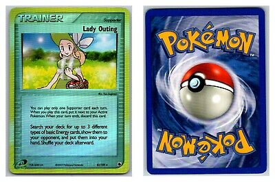 Lady Outing 83/109 REVERSE HOLO Ruby and Sapphire Pokemon Card LP Cond