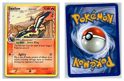 Swellow 40/101 Dragon Frontiers Pokemon Card P Condition