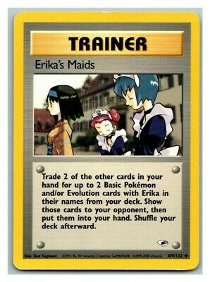 Erika's Maids 109/132 Gym Heroes Pokemon Card P Condition *