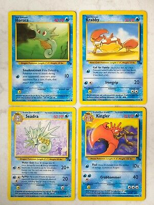 Vintage Pokemon Fossil Unlimited Uncommon/Common - Pick A Card Singles