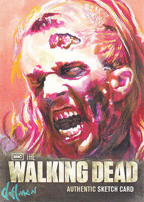 2012 Cryptozoic The Walking Dead Season 2 Chris Hoffman Color Sketch Card Wow!!