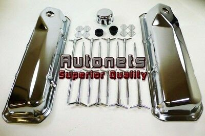 Ford Chrome Engine Dress Up Kit 351c-351m-400m V8 1968-01 Tall Breather Wing Nut