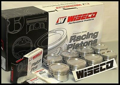 Sbc Chevy 427 Wiseco Forged Pistons & Rings 4.125 Bore -8cc Rd Dish Kp470as
