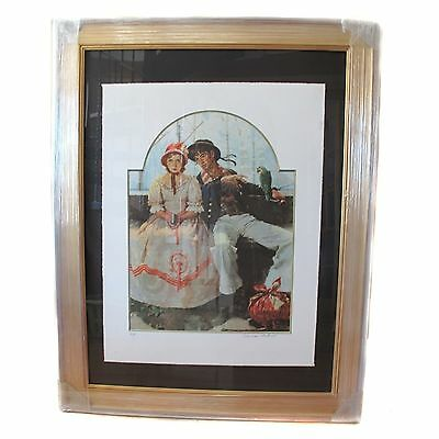 Norman Rockwell - Voyager - Collotype Framed Art