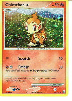 Pokemon Diamond And Pearl Expansion Cosmos Holo Card 76/130 Chimchar