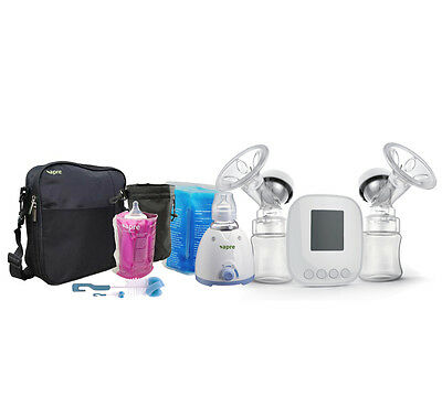 Apre 2in1 Electric Baby Bottle Warmer Twin Breast Pump Kit & Avent Medela Adapte