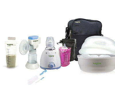 Apre Electric Baby Bottle Warmer Steriliser Breast Pump Kit & Medela Avent Adapt