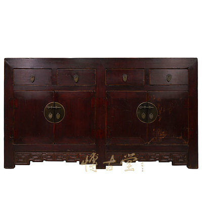 Chinese Antique Shan Xi Twin Cabinet/buffet Table 28t05