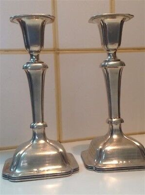 Antique Alt Vienna Austria Silver Judaica Candlesticks Candle Holders (m841)
