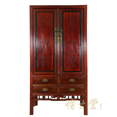 Chinese Antique Carved Beech Wood Tv Armoire 13lp17