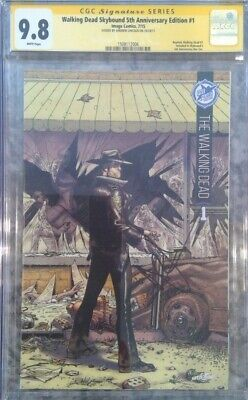 "Walking Dead Skybound 5th Anniv #1_cgc 9.8 Ss_signed Andrew Lincoln ""rick"" Rare"