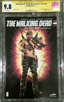 "Walking Dead: All Out War Chapters 3 & 4_cgc 9.8 Ss_signed Andrew Lincoln ""rick"""