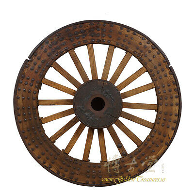 Chinese Antique Huge Country Wagon Wheel 24p89