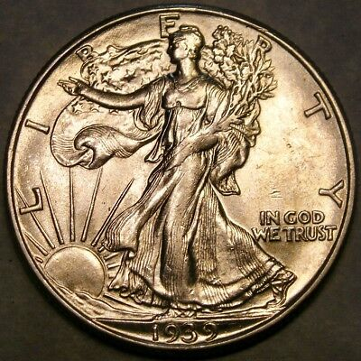 1939 D/d Liberty Walking Silver Half Dollar Very Rare Rpm #2 Ebay's Only Example