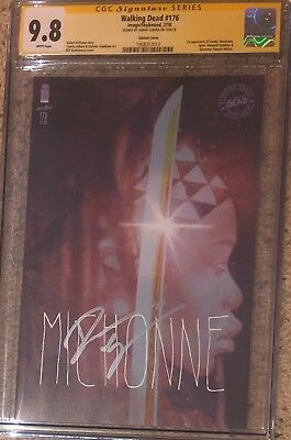Walking Dead #176 Michonne Variant__cgc 9.8 Ss__signed By Danai Gurira