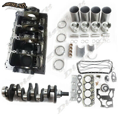 Isuzu 4jb1 Cylinder Block Assembly Kit For Mustang Bobcat 843 853 1213 960 2060