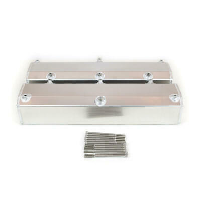 Canton Racing Valve Cover; Fabricated Stock Satin Aluminum For Ford 302/351w Sbf
