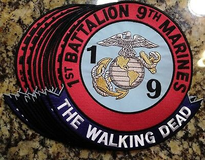 """10"""" 1st Battalion 9th Marines The Walking Dead Jacket Patch - Lot Of 10"""