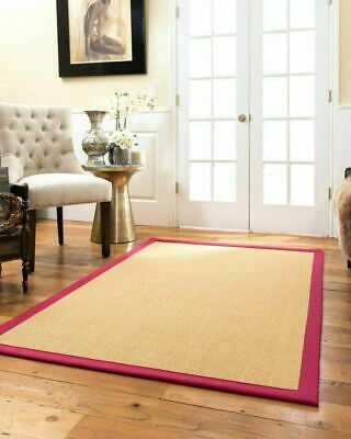 Chantilly Hand Woven Red Trim Non-slip Skid Resistant Area Throw Rug Carpet