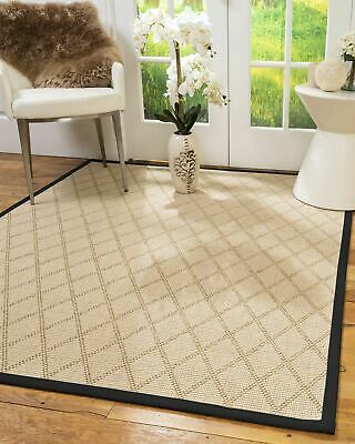 Porto Wool Sisal Large Modern Non-slip Skid Resistant Area Throw Rug Carpet
