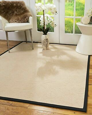 Hermosa Wool Large Modern Non-slip Skid Resistant Area Throw Rug Carpet