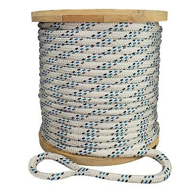 """Double Braid Polyester Composite Cable Wire Pull Pulling Rope W/ 6"""" Spliced Eyes"""