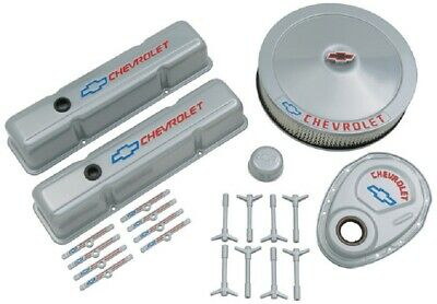 Proform 141-360 Bowtie Gray Engine Dress Up Kit Fits Small Block Chevy Engines