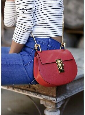 Nwt Chloe Drew Bag Small In Plaid Red 1,850$ Gorgeous
